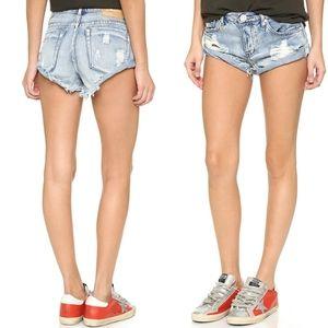 One Teaspoon Hendrix Bandit Jeans Shorts, size 26